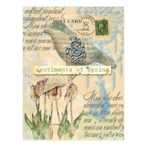 Sentiments of spring post card