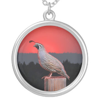 SENTINEL AT SUNSET SILVER PLATED NECKLACE