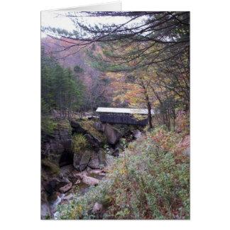 Sentinel Bridge Fall Foliage Notecard