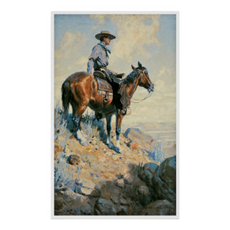 Sentinel of the Plains 1906 by William Dunton Poster