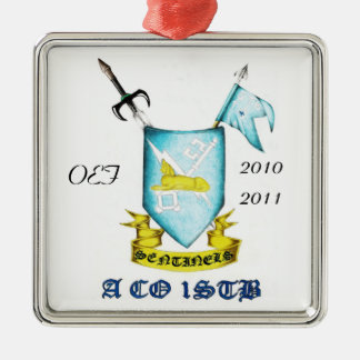 Sentinel Shield, OEF, 2010-2011 Silver-Colored Square Decoration