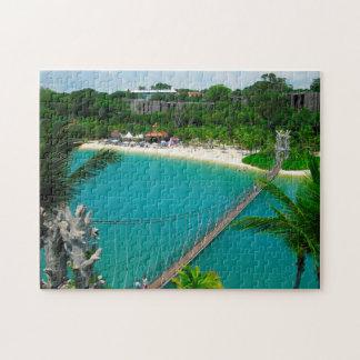 Sentosa Beach Singapore. Jigsaw Puzzle