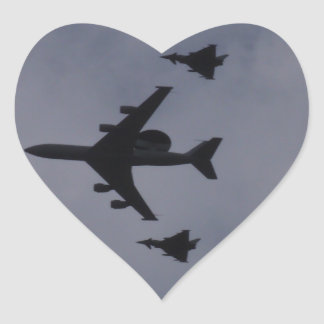 Sentry Escorted By Typhoons Heart Sticker