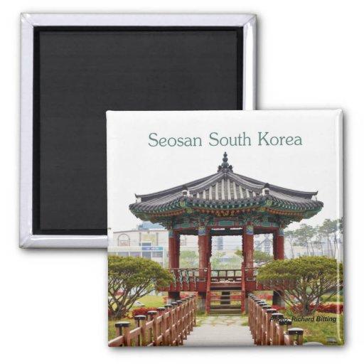 Seosan South Korea Travel Souvenir Fridge Magnets
