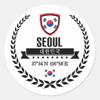 Seoul Classic Round Sticker