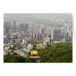 Seoul From Above Card