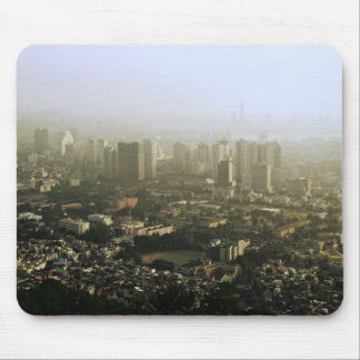 Seoul From Above Urban Photo Mouse Pad