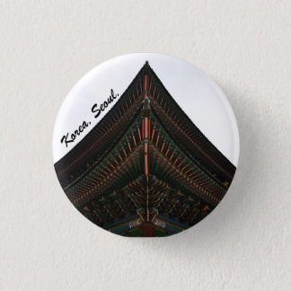 seoul korea photography 3 cm round badge
