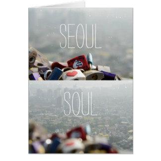 Seoul Love Locks Card