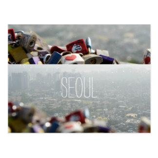 Seoul Love Locks Postcard