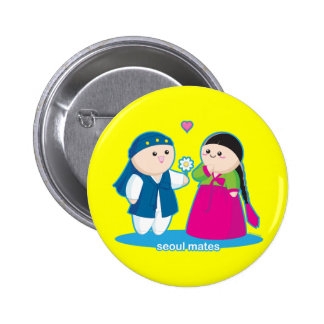 Seoul Mates Pinback Button