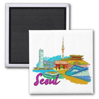 Seoul - South Korea.png Magnet