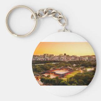 Seoul South Korea Skyline Key Ring