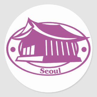 Seoul Stamp Classic Round Sticker