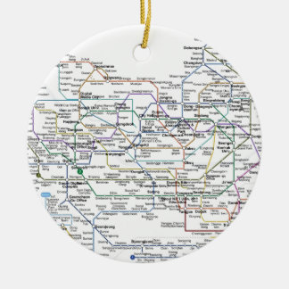 Seoul Subway Map Ceramic Ornament