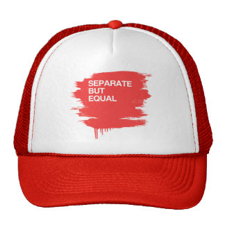 SEPARATE BUT EQUAL TRUCKER HATS