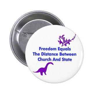 Separation of Church and State 6 Cm Round Badge