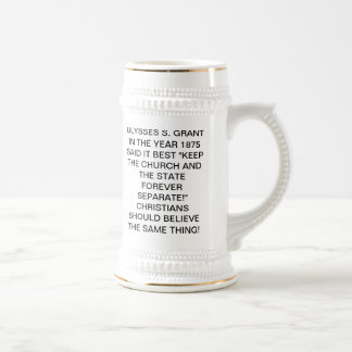 Separation of Church and State Beer Stein