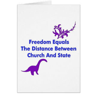 Separation of Church and State Greeting Card