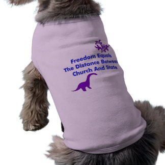 Separation of Church and State Sleeveless Dog Shirt