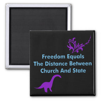 Separation of Church and State Square Magnet