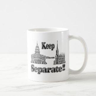 Separation of Church & State Basic White Mug
