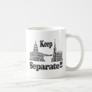 Separation of Church & State Classic White Coffee Mug