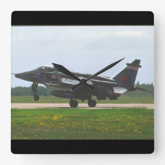 Sepecat Jaguar Interna_Aviation Photography II Square Wall Clock