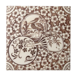 Sepia Aesthetic Japanese Style Antique Repro Tile