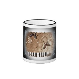 Sepia Arty Piano Coffee Mug