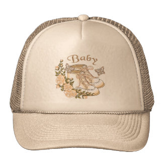 Sepia Baby First Shoes Trucker Hat