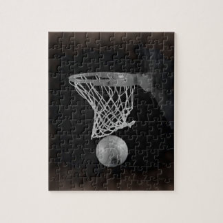 Sepia Basketball Jigsaw Puzzle