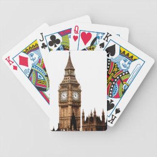 Sepia Big Ben Tower Poker Deck