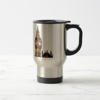Sepia Big Ben Tower Travel Mug