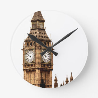 Sepia Big Ben Tower Wall Clock