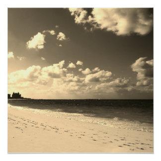 Sepia Castle Beach