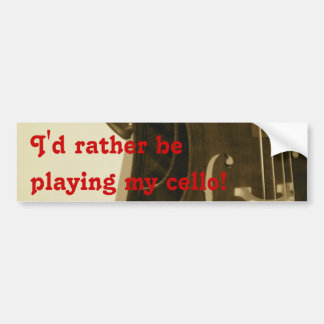 Sepia Cello bumper sticker