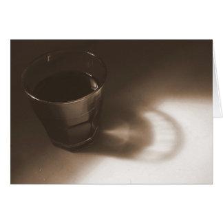 sepia coffee glass card