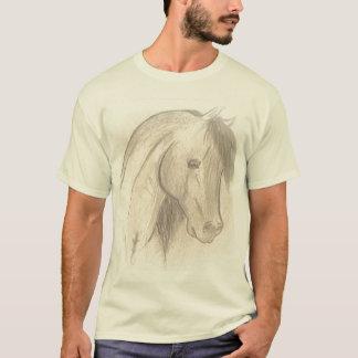 Sepia Drawn Horse T-Shirt
