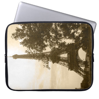 Sepia Eiffel Tower Laptop Sleeve