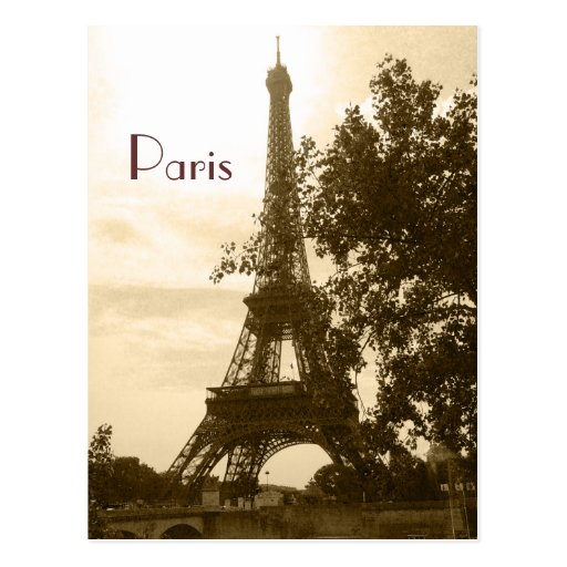 Sepia Eiffel Tower--Paris Post Cards