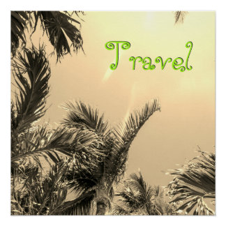 Sepia Exotic Travel Poster