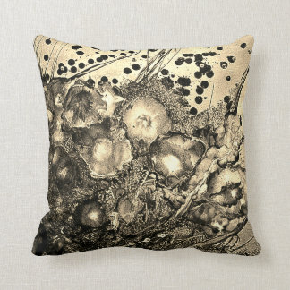 Sepia Floral Cushion