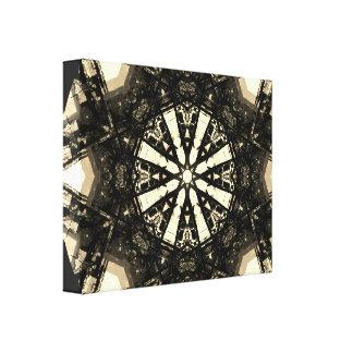 Sepia Fractalization Mandala Canvas Print