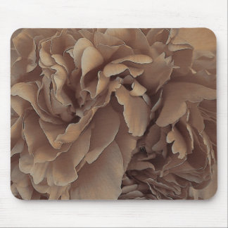sepia frilly peony mousepad