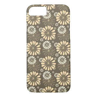 Sepia Gray White Flower iPhone Cover