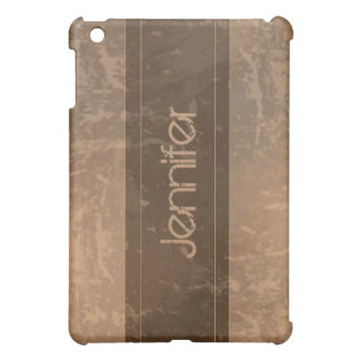 Sepia Grunge Marble Distressed  Cover For The iPad Mini