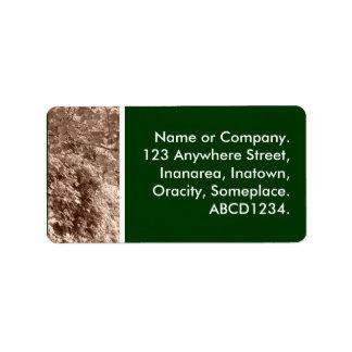 Sepia Leaves Address Label