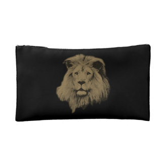Sepia Lion Cosmetic Bags