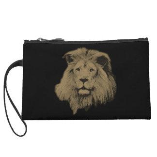Sepia Lion Wristlet Purses